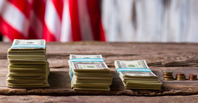 Money with flag
