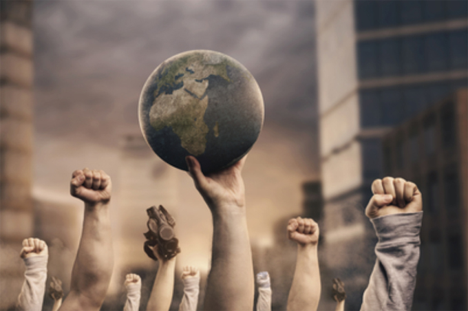 Fists and the earth