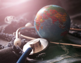 Earth and stethoscope
