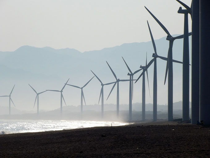 Beach wind farm