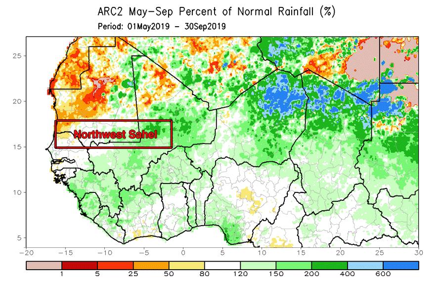 Sahel region rainfall