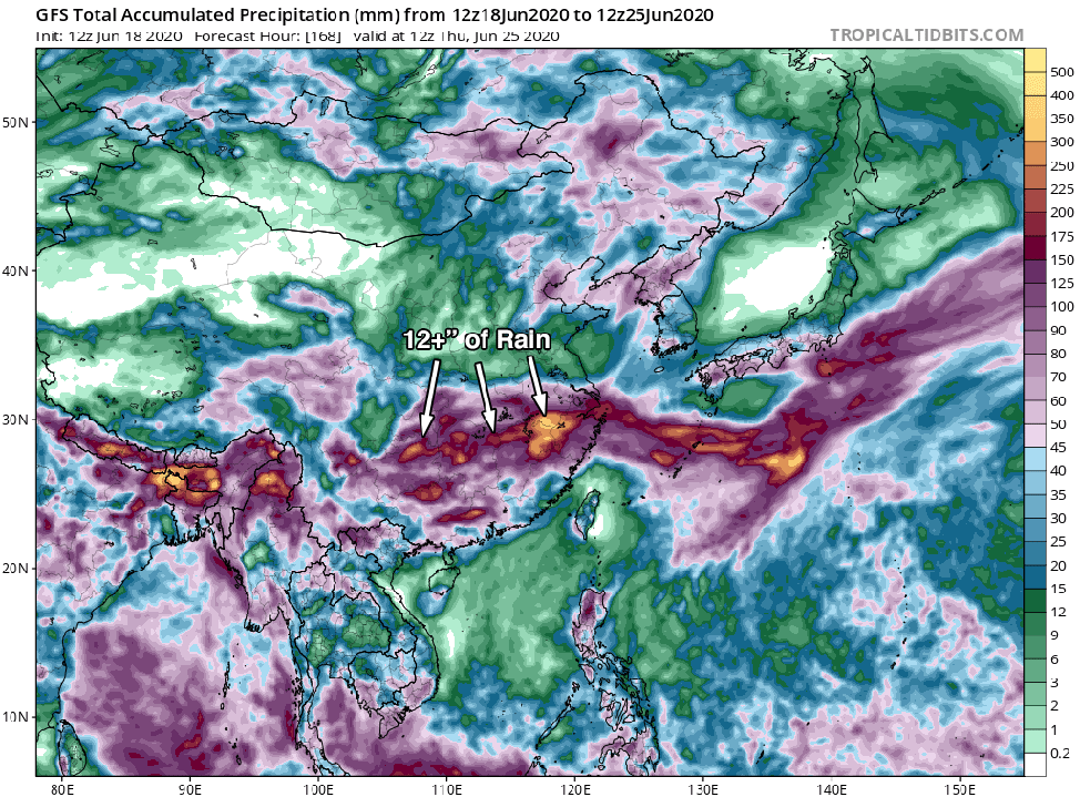 China precipitation forecase
