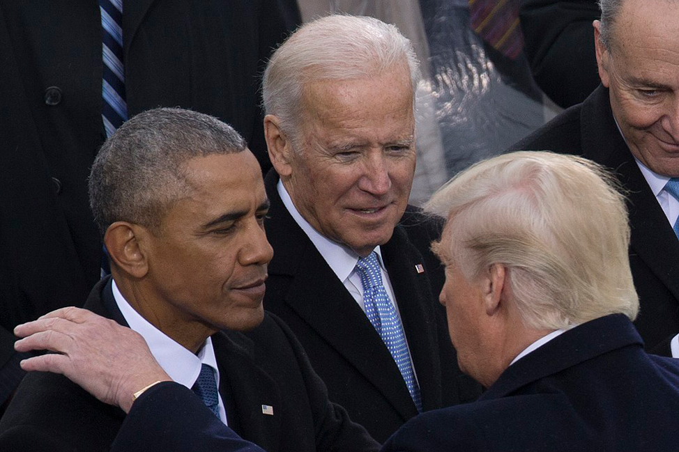 Obama, Biden and Trump