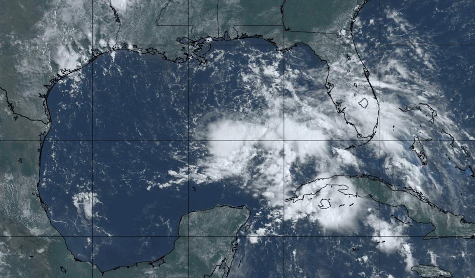 Satellite image of Invest 91L