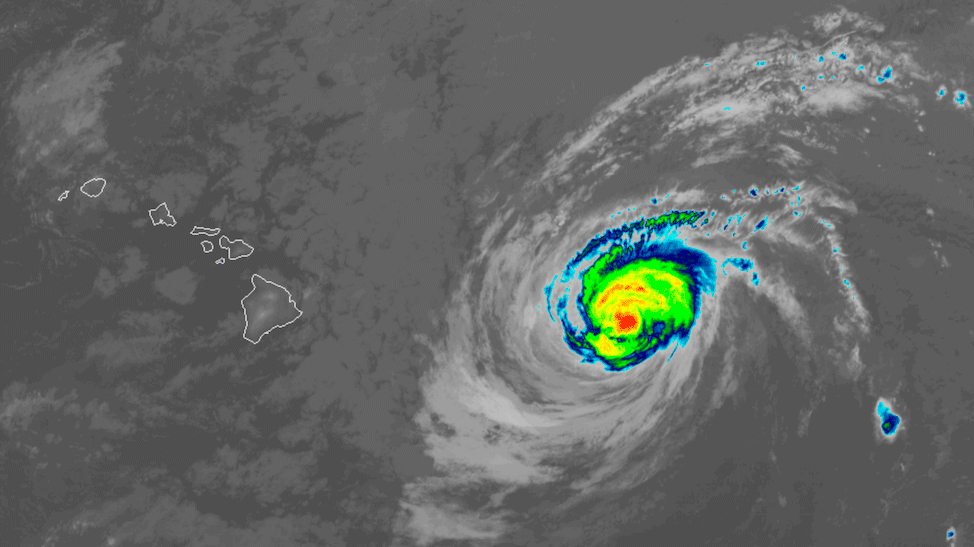 Hurricane Douglas satellite image