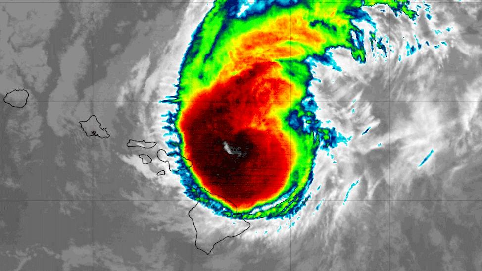 Satellite view of Hurricane Douglas