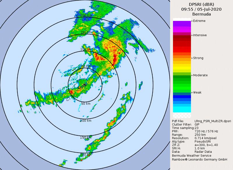 Bermuda radar image
