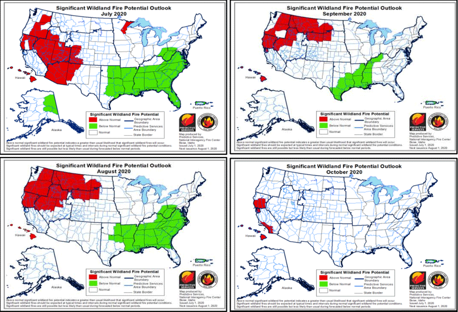 Fire forecast charts