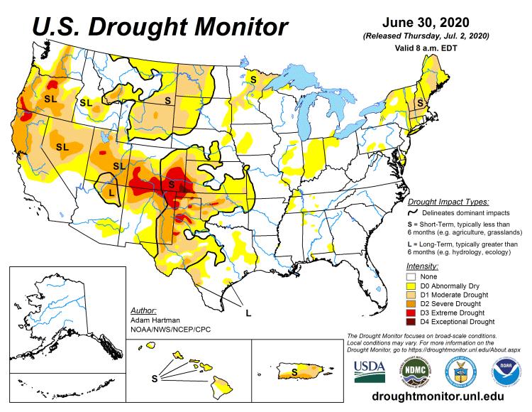 Drought monitor chart