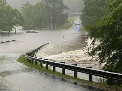 Flooding in Lake Royale