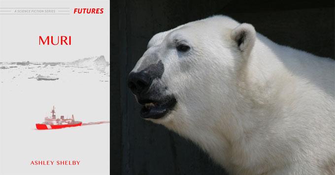 Polar bear and book cover