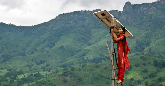 Solar engineer in India