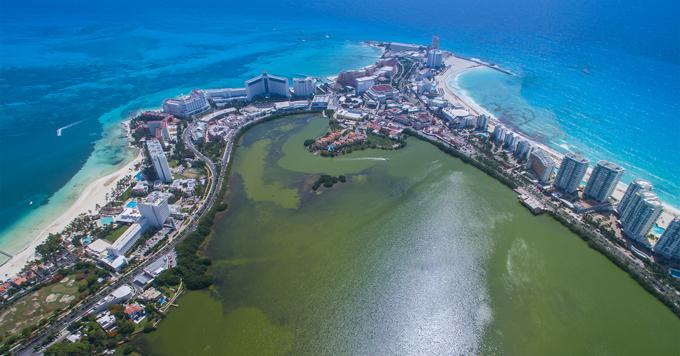 Cancun aerial