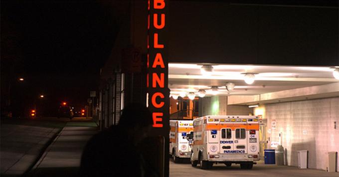 Ambulance at hospital