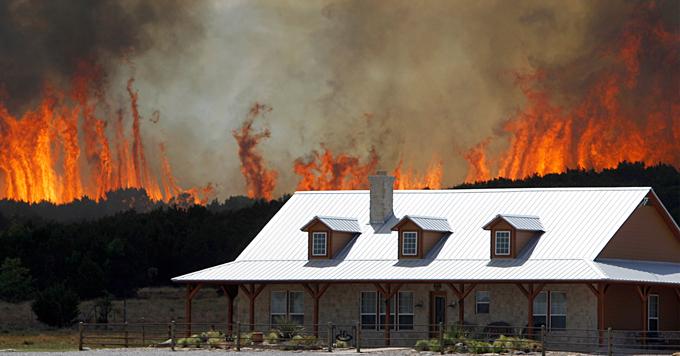 Wildfire near home