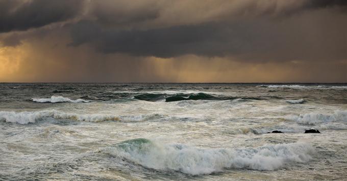 Ocean rain clouds