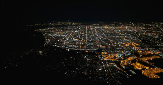 Aerial of L.A.