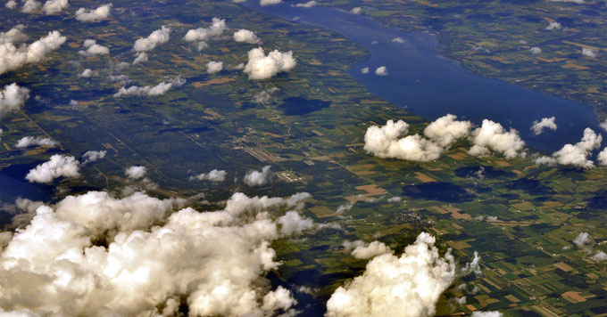 Aerial image of Finger Lakes