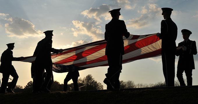 Veterans flag-folding ceremony