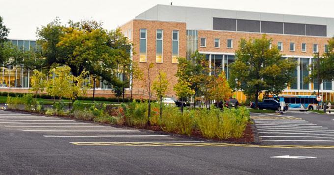 Cornell porous parking lot