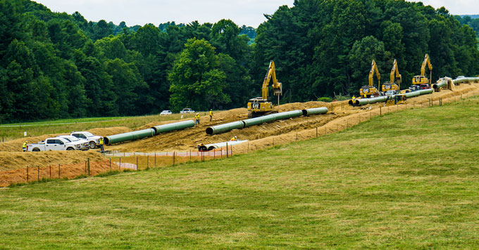 Mountain Valley Pipeline equipment