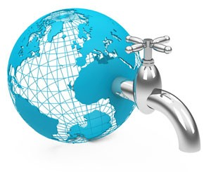 world water faucet