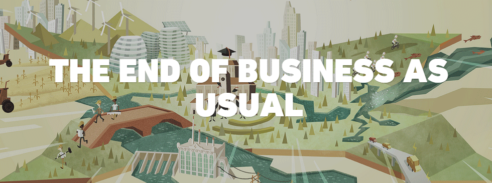 End of business as usual graphic