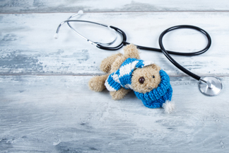 Child's toy and stethoscope