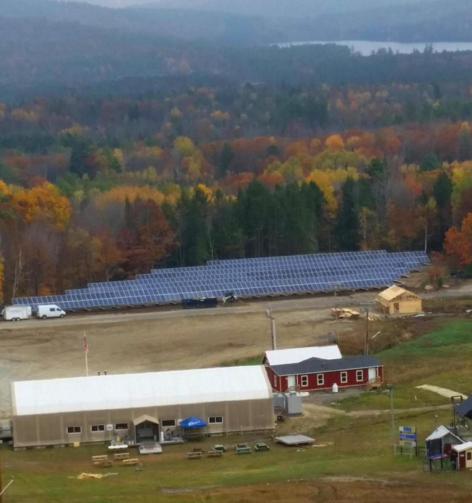 Mt Abram Ski Area's solar array