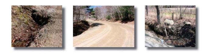 Photos of Vermont roads