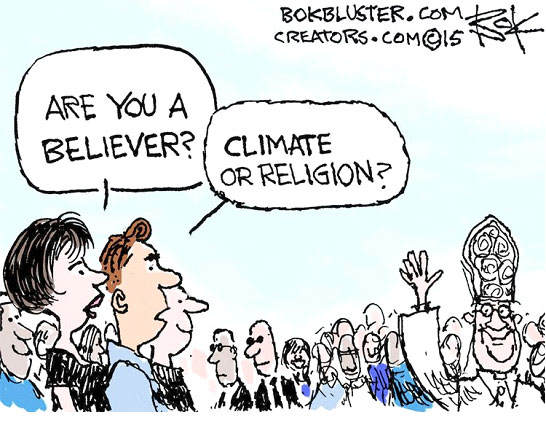 Editorial Cartoonists On Pope In Us Yale Climate Connections