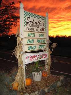 Schultz Farm sign