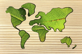 Green leaf continents