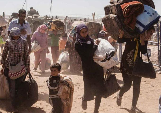 Kurdish Syrian refugees 2014