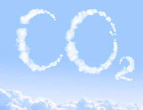 CO2 written in clouds