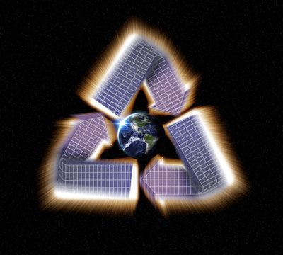 Solar panel recycle image
