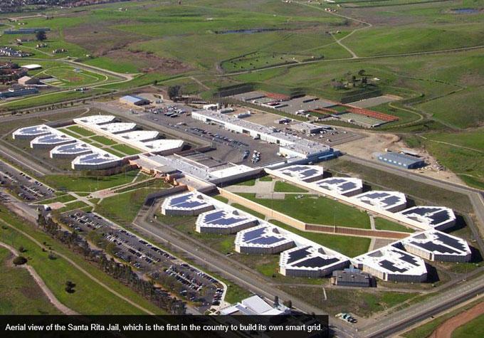 Aerial view of Santa Rita Jail