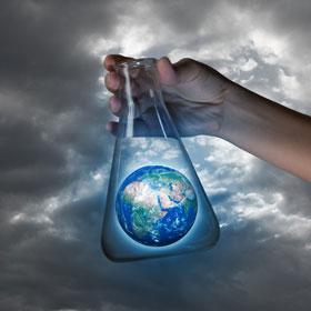 Photo of earth in a beaker