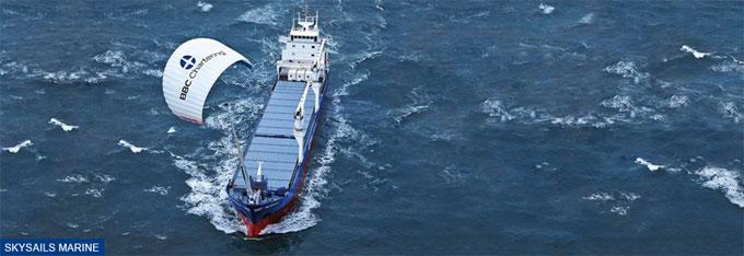 Skysail ship.