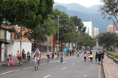 Car-free day in Bogota
