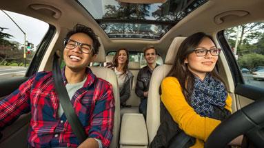Lyft car passengers