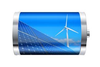 Solar, wind, battery