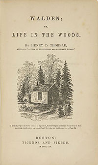 Page from Thoreau book