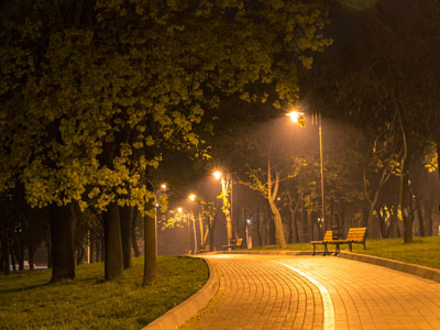 Night streetlights