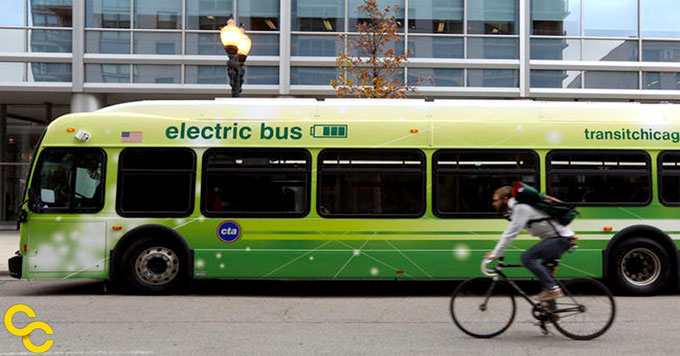 Chicago's electric bus