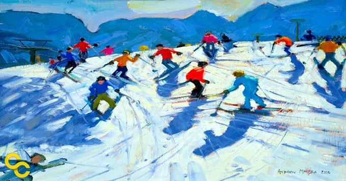 Skiers image