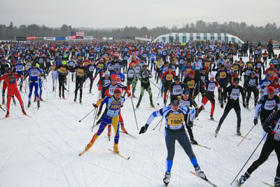 Birkie skiiers