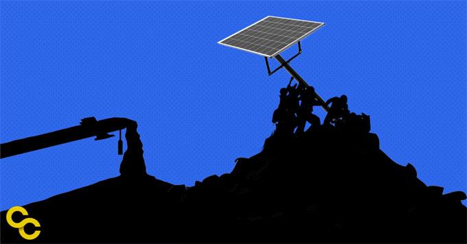 Solar panel image graphic