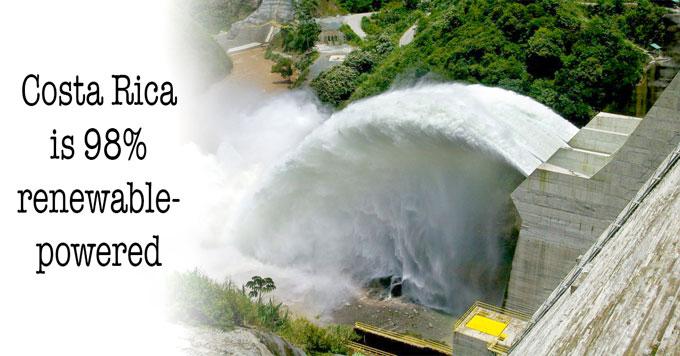 Hydroelectric dam in Costa Rica