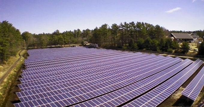 Cranberry farm solar arrays